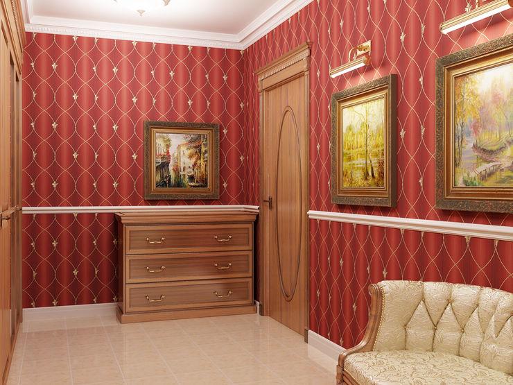 homify Pasillos, vestíbulos y escaleras de estilo clásico Rojo