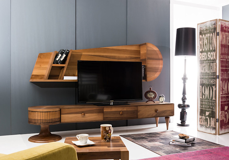 Villa Style Living roomTV stands & cabinets Wood