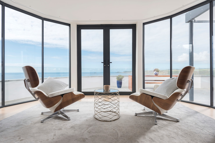 Gwel-An-Treth, Sennen Cove, Cornwall Laurence Associates Quartos modernos Branco