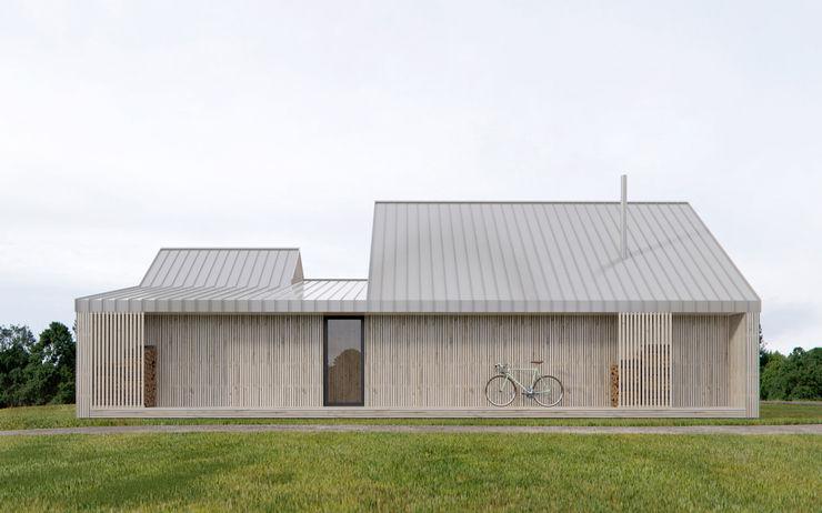 INT2architecture Rumah prefabrikasi Kayu Beige
