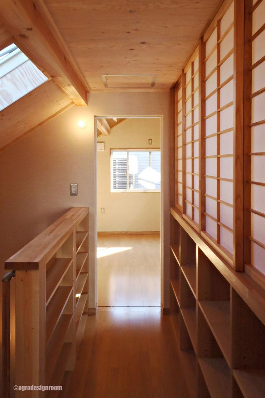 アグラ設計室一級建築士事務所 agra design room Corridor, hallway & stairs Stairs