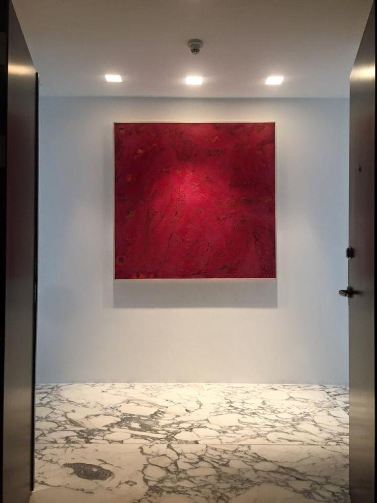THE ST. REGIS Barra de Arquitectura Mexicana Pasillos, vestíbulos y escaleras modernos Rojo