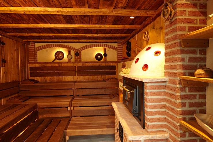 Erdmann Exklusive Saunen Spas de estilo rústico