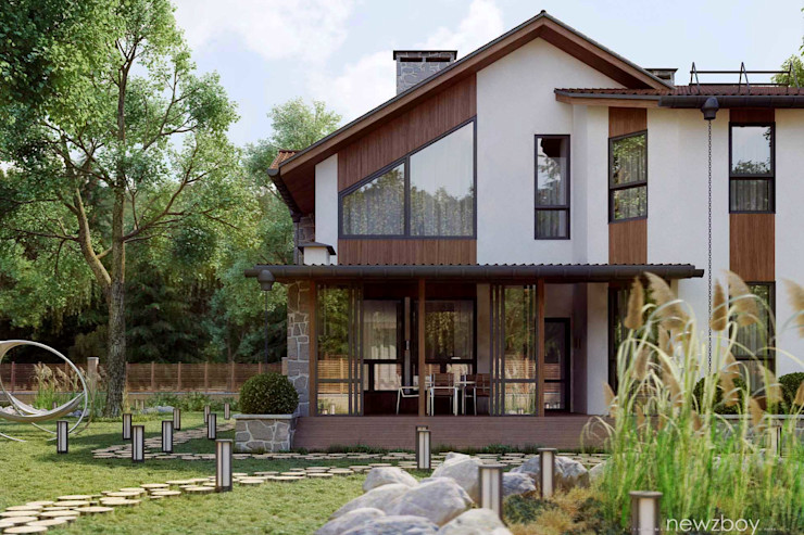 Yurii Hrytsenko Mediterranean style house Wood