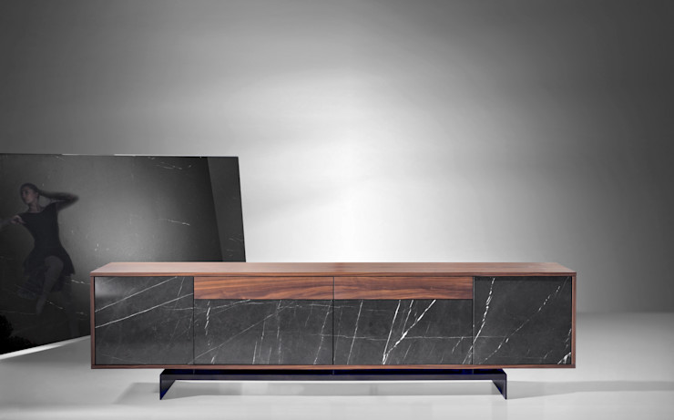 Grammi Sideboard Maami Home Sala de estarTV e mobiliário Mármore Castanho