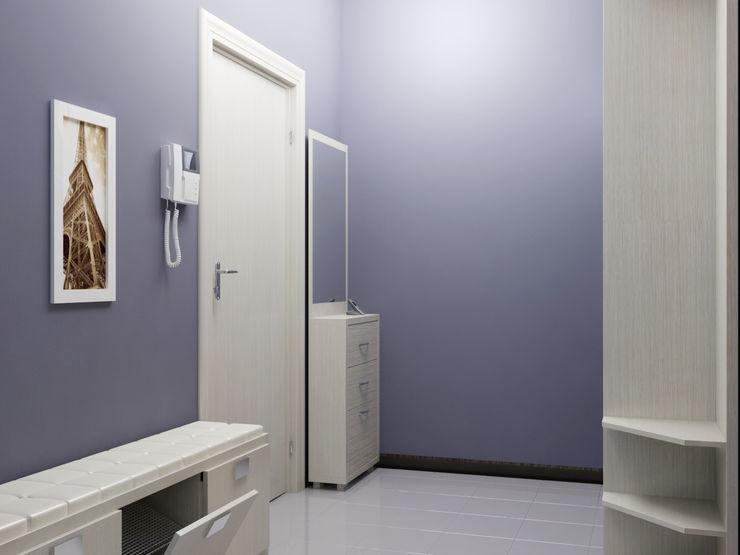 homify الممر الحديث، المدخل و الدرج Blue