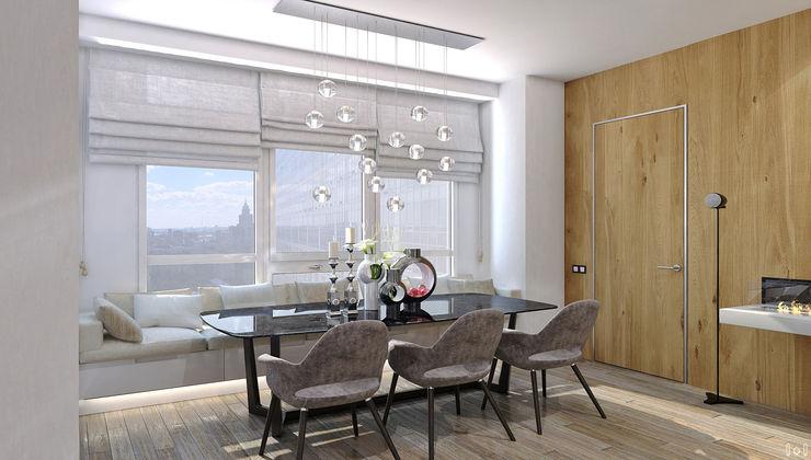 1+1 studio Minimalist dining room