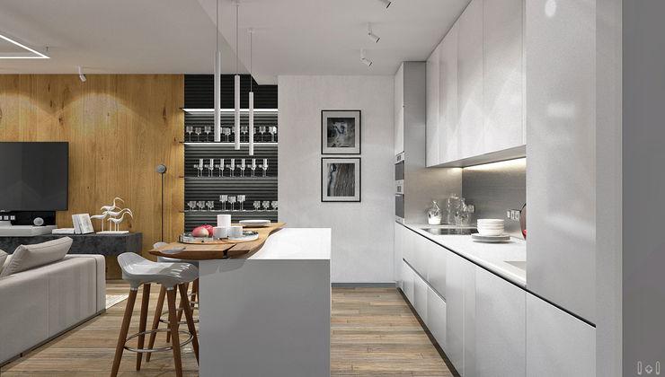 1+1 studio Minimalist kitchen