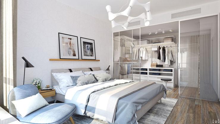 1+1 studio Minimalist bedroom