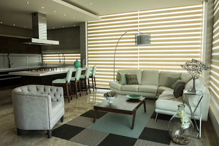 Family room. Dovela Interiorismo Salones modernos Turquesa