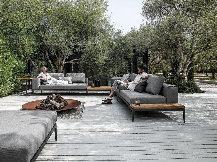 GRID Lounge - von Gloster Furniture FRIEDRICH Living e.K. GartenMöbel Grau