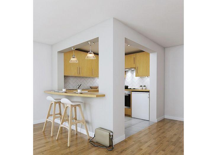 Breakfast Bar Katie Malik Interiors Dapur Modern Kayu Wood effect
