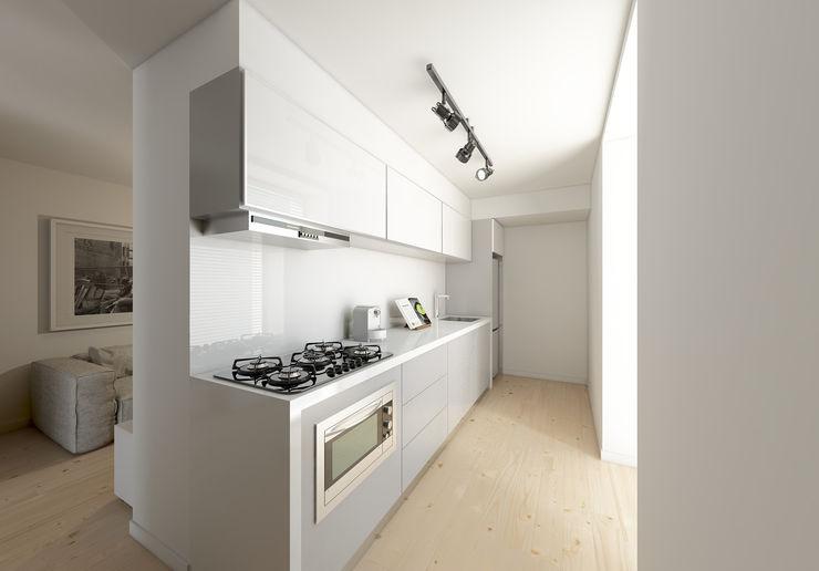 José Tiago Rosa Minimalist kitchen