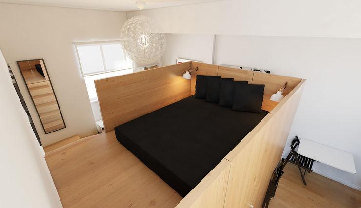 José Tiago Rosa Dormitorios de estilo minimalista