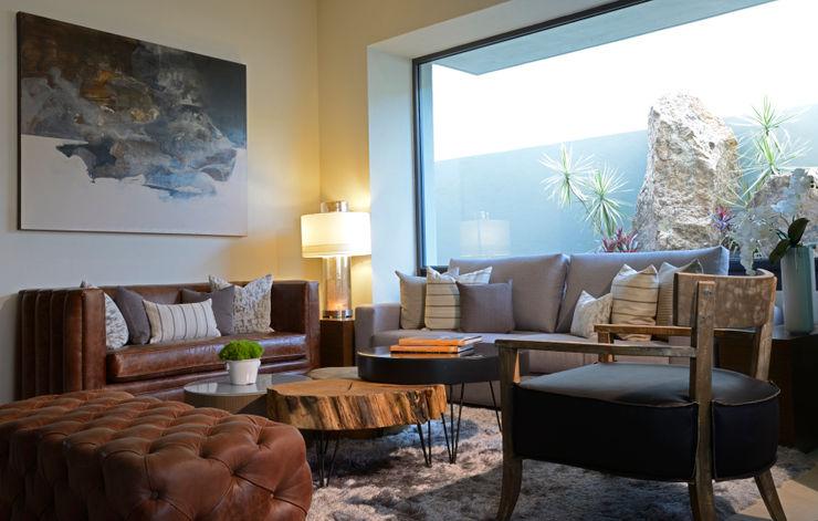 Sala Casa once homify Salas/RecibidoresSofás y sillones Textil