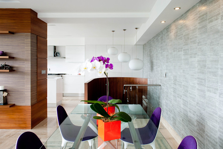 VODO Arquitectos Modern Dining Room