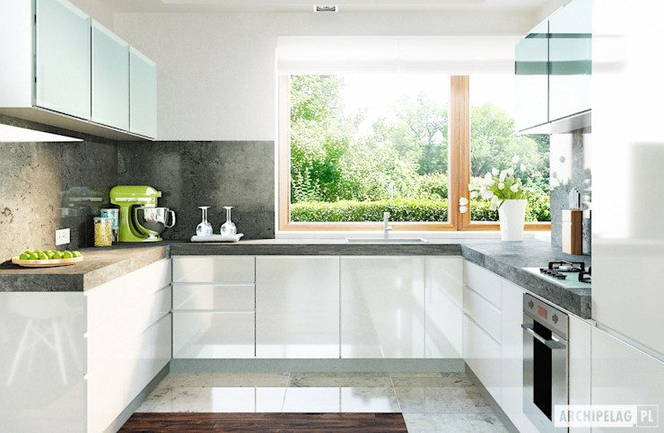 Pracownia Projektowa ARCHIPELAG Cucina moderna