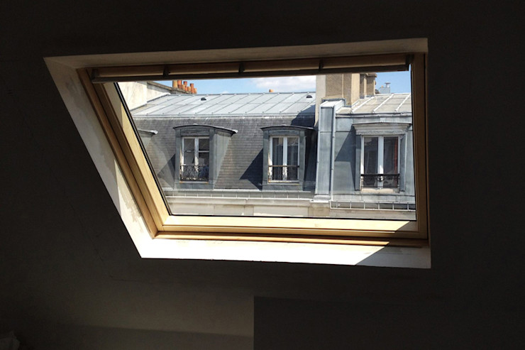 GALI Sulukjian Architecte Moderne Fenster & Türen Holz Weiß