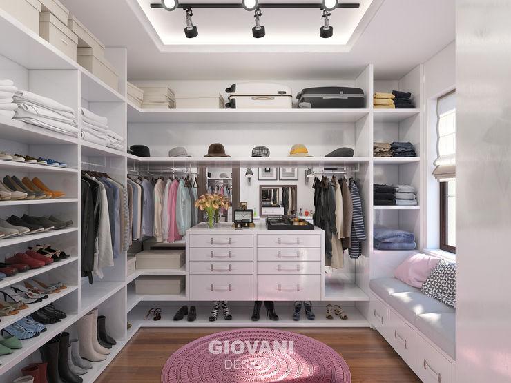 Giovani Design Studio Vestidores de estilo minimalista