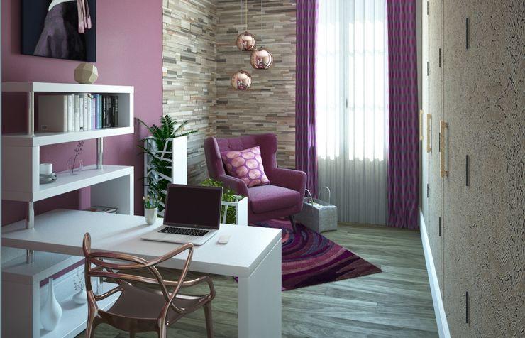 Concept d'intérieur EscritórioAcessórios e decoração Rosa