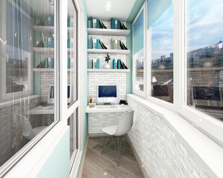 Лето Дизайн 書房/辦公室 White