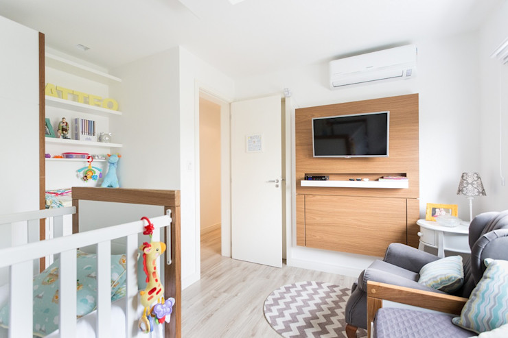 Kali Arquitetura Modern style bedroom