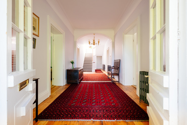homify Country style corridor, hallway& stairs
