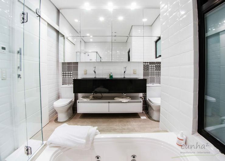 cunha² arquitetura Baños de estilo minimalista Blanco