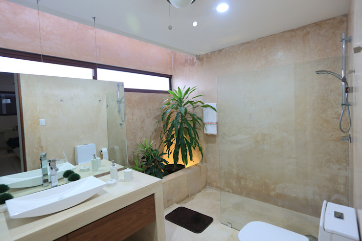 FGO Arquitectura Tropical style bathrooms Natural Fibre Beige