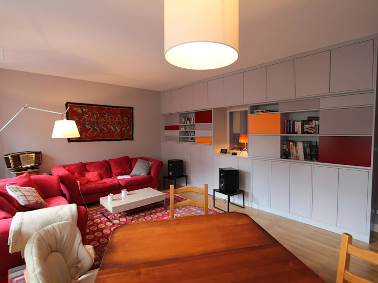 Réhabilitation d'un appartement à Strasbourg Ae-design Salon moderne