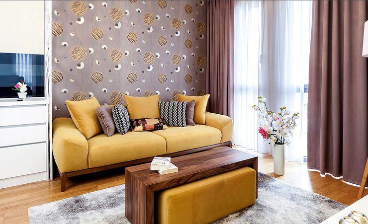 Mera Suites Residence Mekan Çekimi .NESS Reklam ve Fotoğrafçılık Modern Oturma Odası