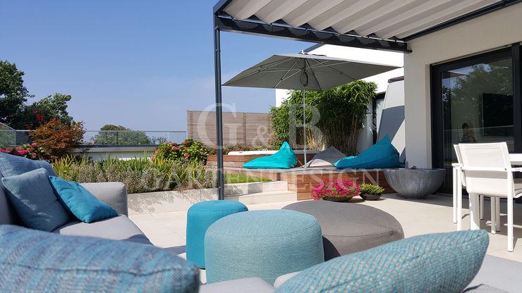 Dachterrasse Penthouse-Garten GEMPP GARTENDESIGN - Gartenplanung Gartengestaltung Landschaftsbau Moderner Balkon, Veranda & Terrasse