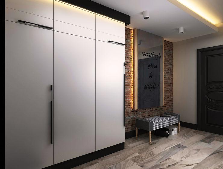 Ceren Torun Yiğit Коридор, прихожая и лестница в стиле минимализм
