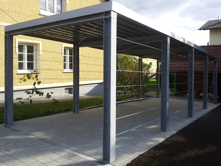 Arch. DI Peter Polding ZT Garage/shed Iron/Steel