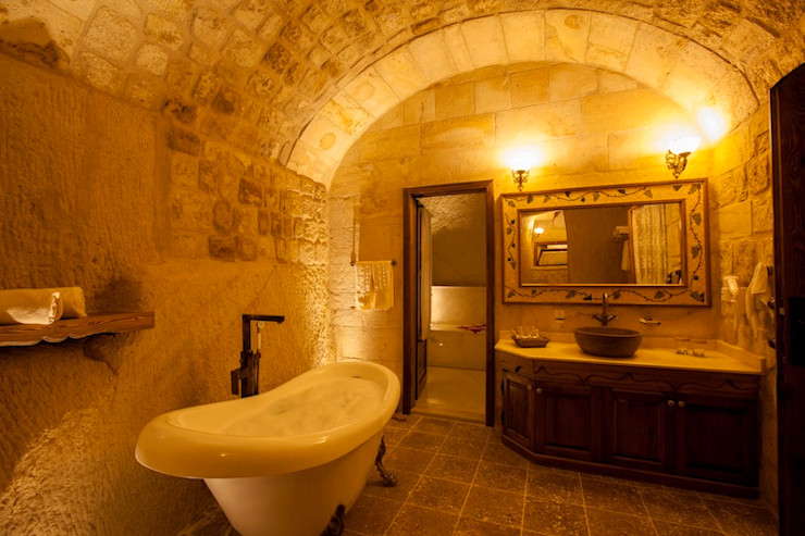 Kayakapi Premium Caves - Cappadocia Rustikale Badezimmer