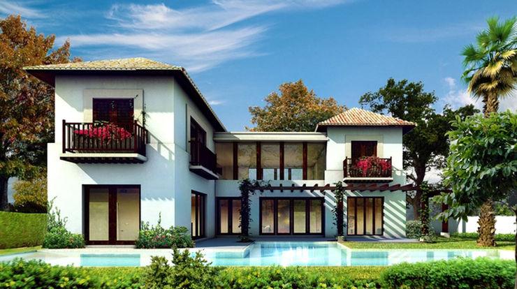 Casa Yucatan Country Club- Boué Arquitectos Boué Arquitectos Casas rústicas Blanco
