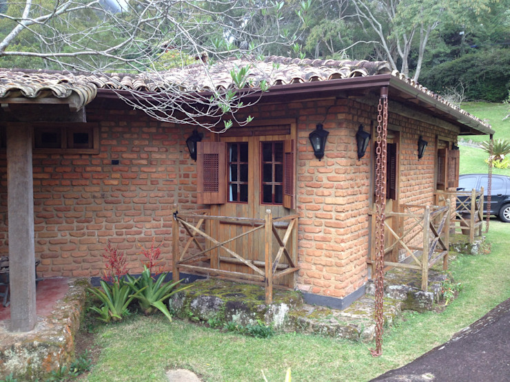 Fernando Menezes Arquitetura Casas de estilo rural