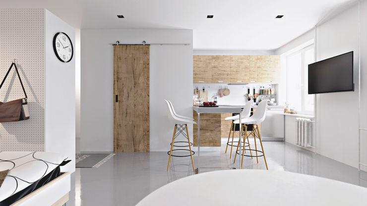 homify Living room Wood White