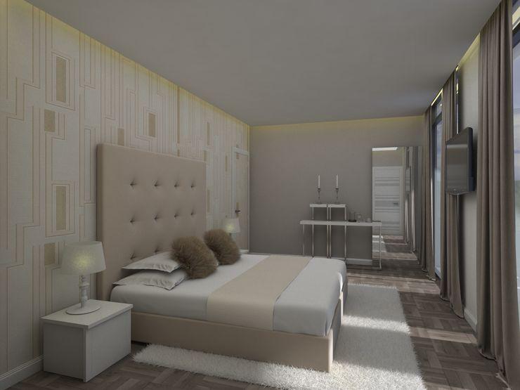 Gabriela Afonso Chambre moderne Beige