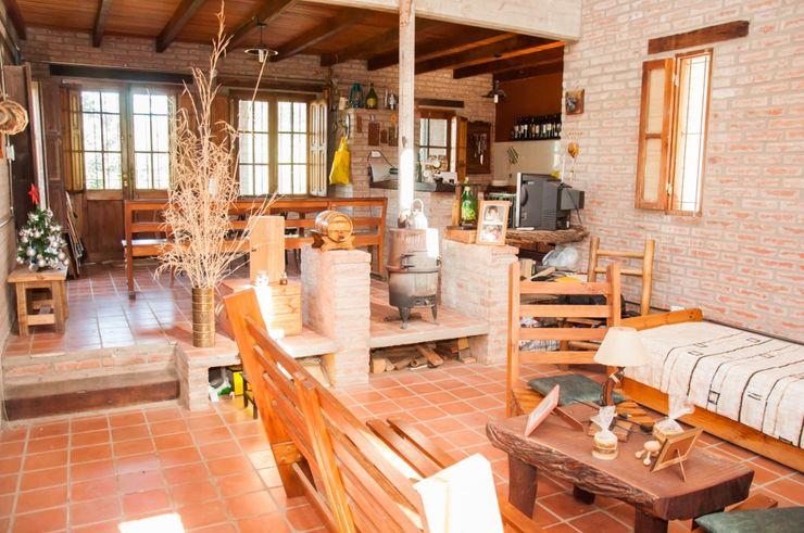 Abitar arquitectura Rustic style living room