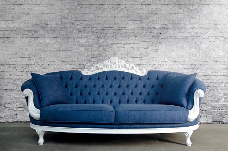 Elizabeth MARTIN EDEN SRL Living roomSofas & armchairs Wood Blue