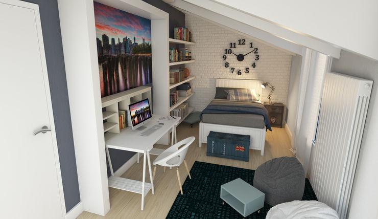 Childroom view1 Davide Bicci 3d Graphic Dormitorios infantiles Escritorios y sillas