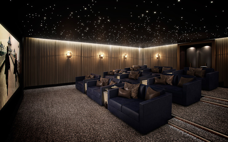 Folio Design | The Cricketers | Cinema Room Folio Design Modern media room