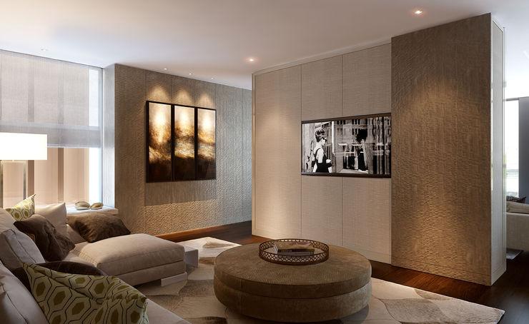 Folio Design | The Cricketers | Family Room Folio Design Modern living room