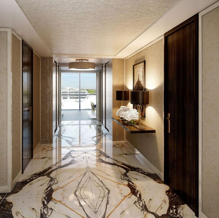 Folio Design | The Cricketers | Foyer Folio Design Modern corridor, hallway & stairs