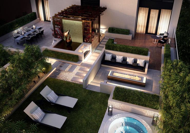 Folio Design | The Cricketers | Terrace Folio Design Modern balcony, veranda & terrace
