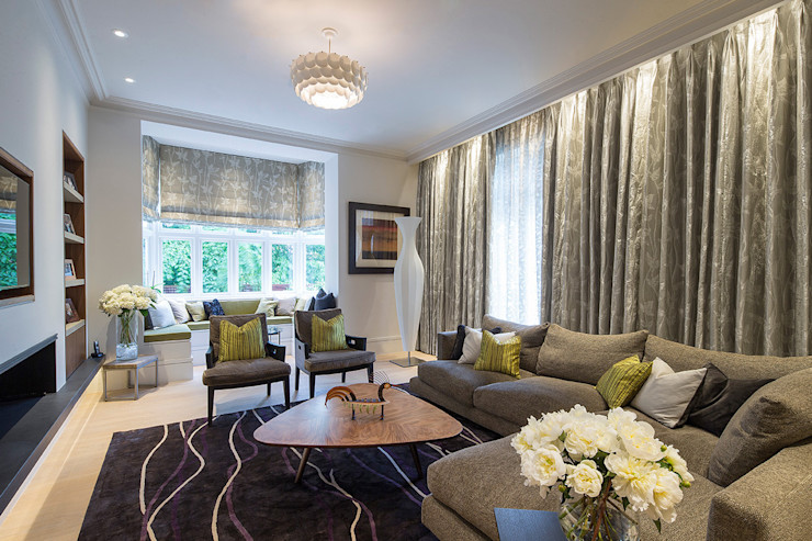 Folio Design | The Crafted House | Living Room Folio Design Вітальня Зелений