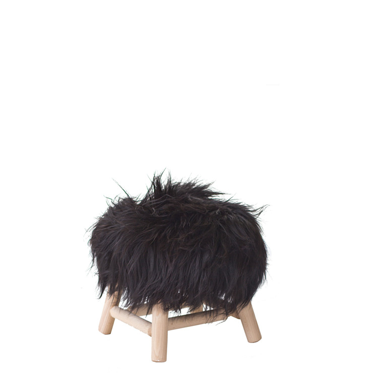 FAB design Living roomStools & chairs Solid Wood Black