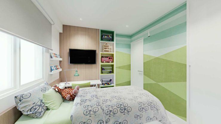Suíte Menino fpr Studio Quarto infantil escandinavo Verde