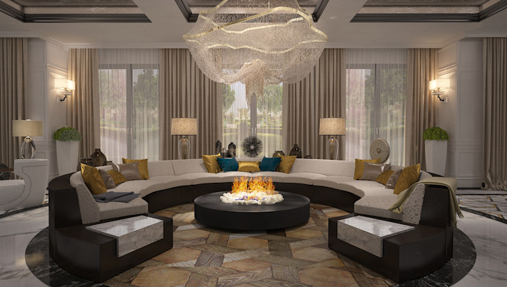 Mert Duyal - Mc Roher Design Studio Living roomFireplaces & accessories